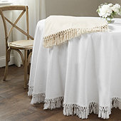 Macrame Fringed Tablecloth