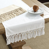 Macramé Fringed Table Linens