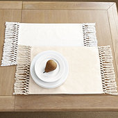 Macrame Fringed Placemat - Set of 4