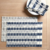 Natalya Ikat Stripe Table Linens