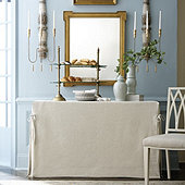 Linen Tie Console Tablecloth