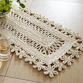 Tulum Scalloped Woven Runner