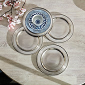 Pewter Chargers - Set of 4