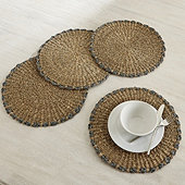 Cora Woven Chargers - Set of 4