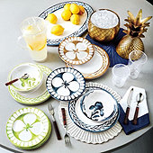 Bunny Williams Watercolor Iris Melamine Dinnerware Collection