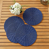 Bunny Williams Woven Round Placemats - Set of 4