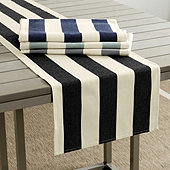 Sunbrella Black & Sand Canopy Table Runner