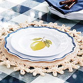 Citrus Melamine Accent Plates - Set of 4