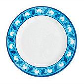 Bunny Williams Blue Melamine Dinner Plate - Set of 4