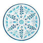 Bunny Williams Blue Melamine Accent Plate - Set of 4