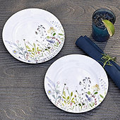 Wildflower Melamine Accent Plates - Set of 4