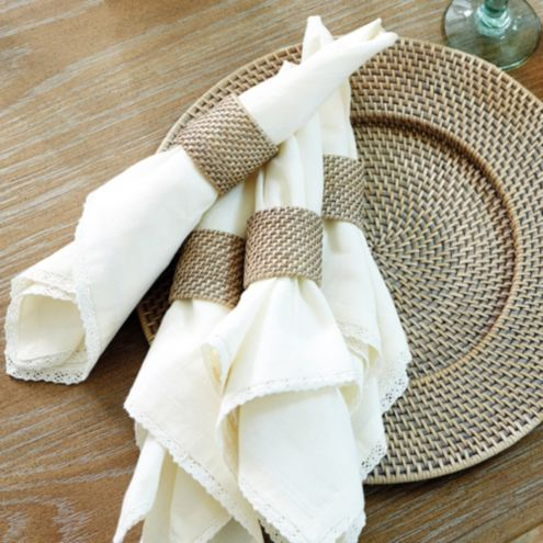 Piper Woven Napkin Rings - Set of 4