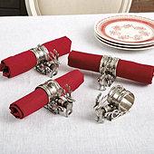 Reindeer & Sleigh Napkin Rings - Set of 4