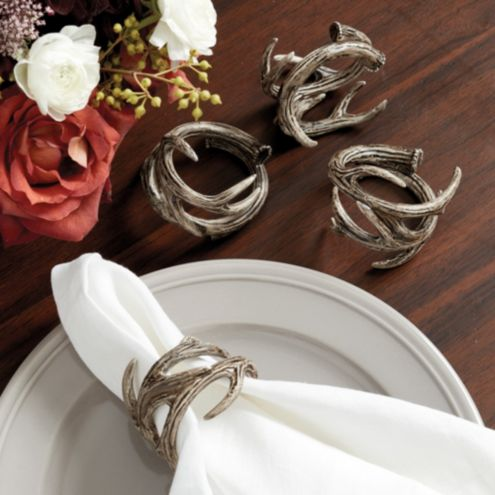 Antler Napkin Rings - Set of 4