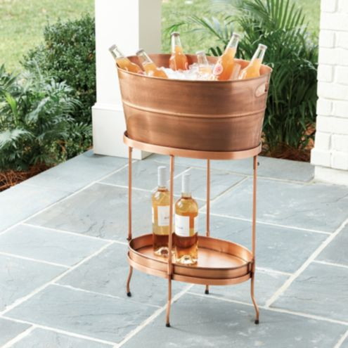 Humont Beverage Tub with Tray & Stand