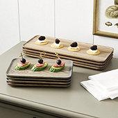 Draper Wood Serving Plates - Set of 4