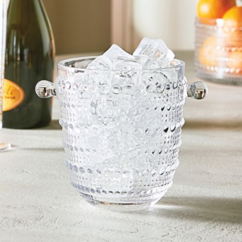 Nova Beaded Glass Ice Bucket