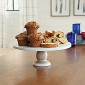Hampton Marble & Wood Cake Stand