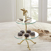 Alina Leaf Tiered Stand