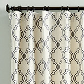Rosselli Embroidered Drapery Panel - Select Colors
