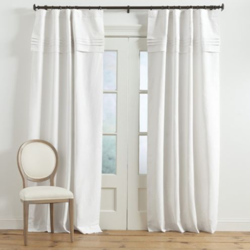 Pintuck Pleated Panel with Valance