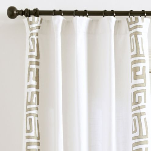 Kuba Appliqué Curtain Panel