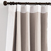 Bordered Linen Drapery Panel