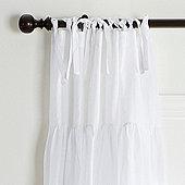 Ruched Tie Top Sheer Panel