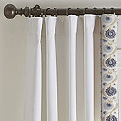 Varenna Crewel Suzani Border Drapery Panels - Set of 2