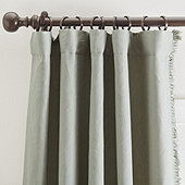 Everyday Linen Fringed Drapery Panel, Set of 2