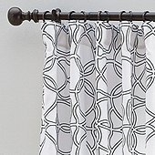 Clary Embroidered Trellis Drapery Panel