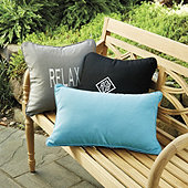 Monogrammed Outdoor Throw Pillow Cover