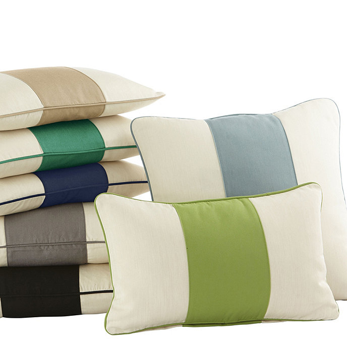 Ballard Design Pillows color block indoor/outdoor pillow | ballard designs | ballard designs