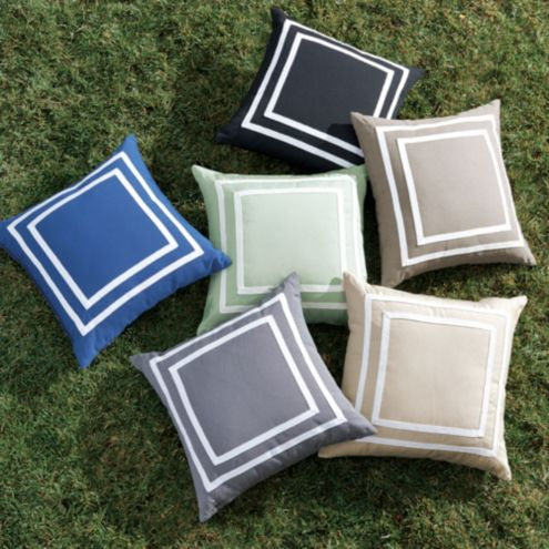 Double Border Outdoor Pillow