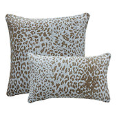 Leopard Skin Sunbrella Performance Pillow - Silver