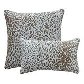 Leopard Skin Sunbrella Performance Pillow - Silver