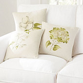 Hand Painted Botanical Outdoor Pillow Covers