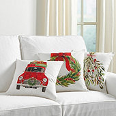 Watercolor Holiday Pillow