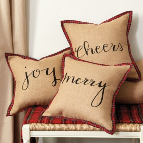 Holiday Script Pillow Cover