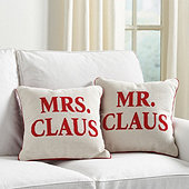 Mr. & Mrs. Claus Needlepoint Pillow Cover