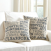 City/Neighborhood Pillow
