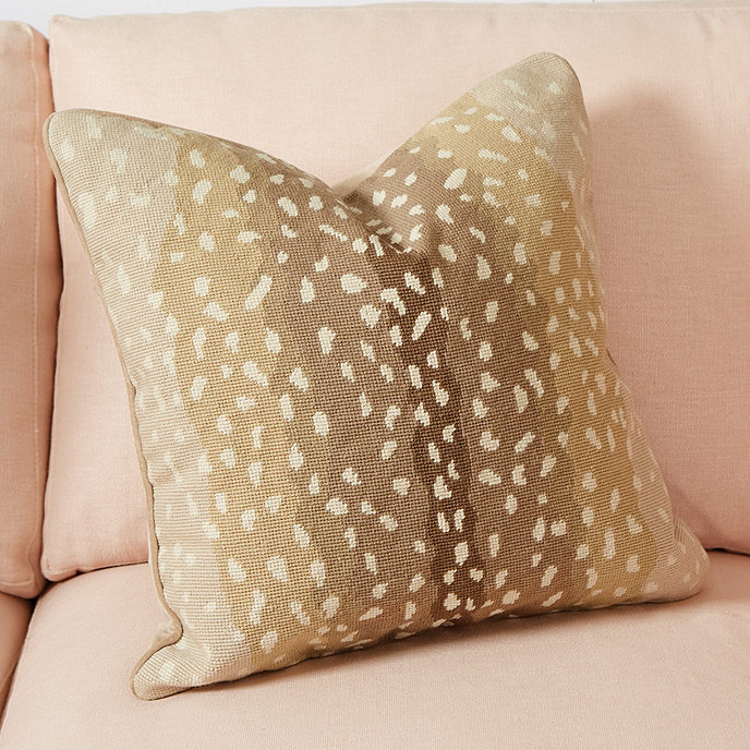 Ballard Design Pillows antelope needlepoint pillow | ballard designs | ballard designs