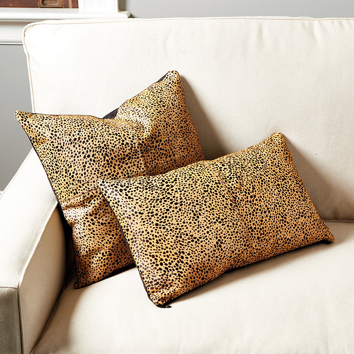 Ballard Design Pillows cheetah hair-on-hide pillow | ballard designs