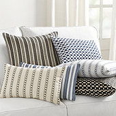 Noir Textured Woven Pillow Covers - Select Colors