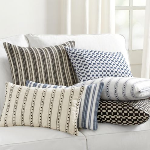 Noir Textured Woven Pillows