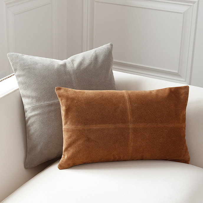 Bon Sueded Leather Throw Pillows