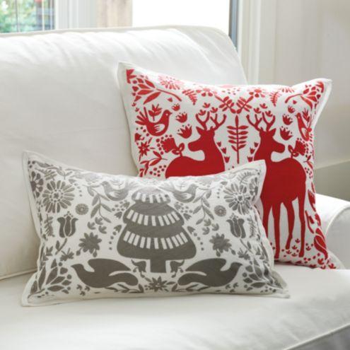 Yuletide Embroidered Pillows Ballard Designs