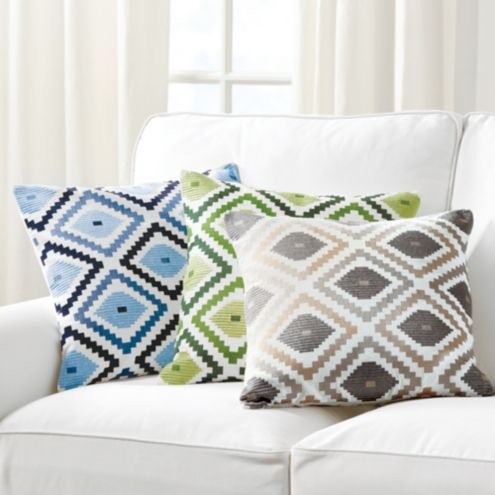 Jane Embroidered Ikat Pillow
