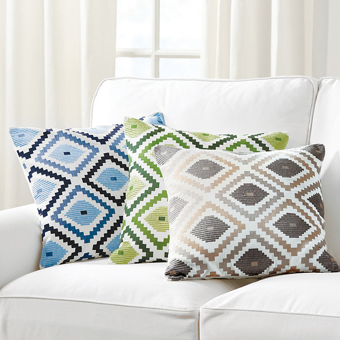 Ballard Design Pillows jane embroidered ikat pillow | ballard designs | ballard designs