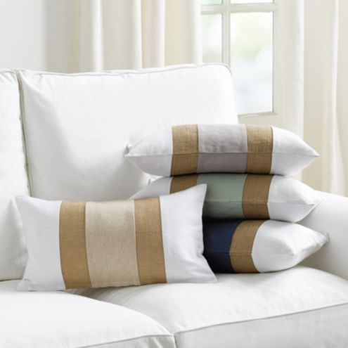 Linen & Burlap Colorblock Pillow